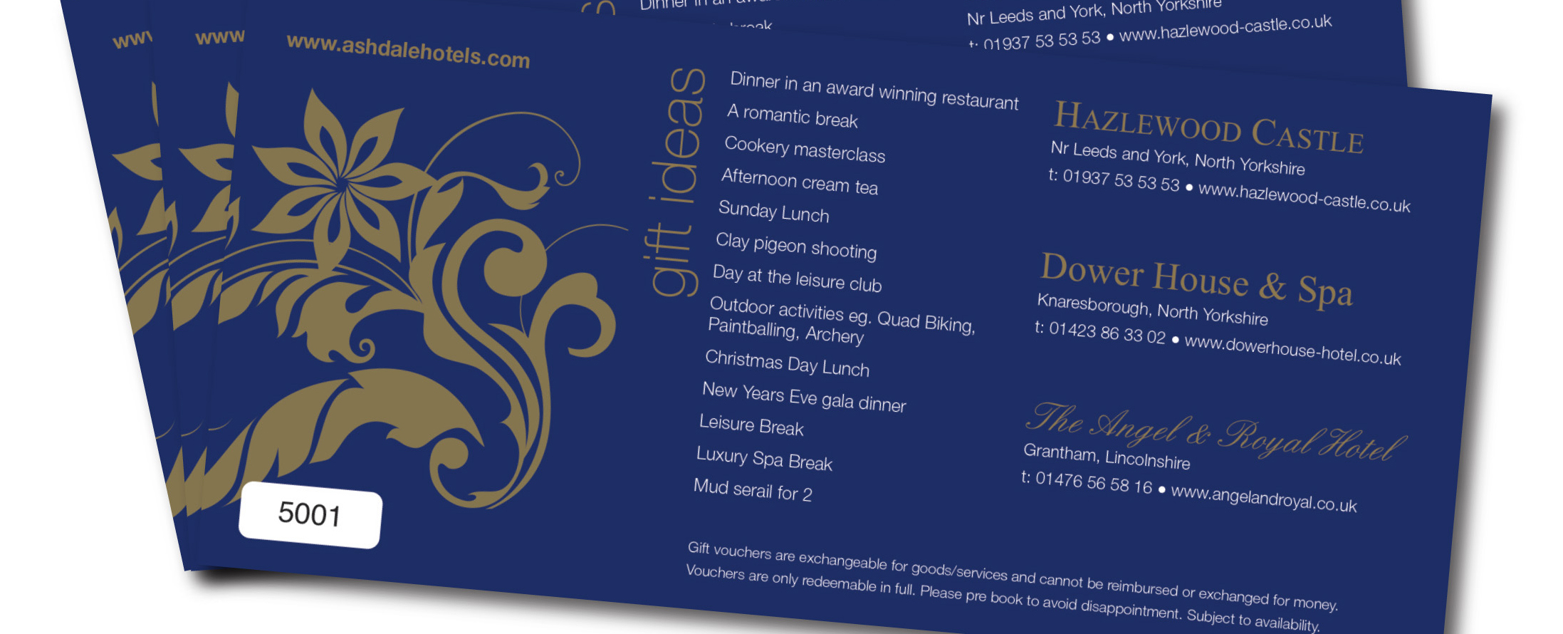 Hotel Gift Voucher Dower House Spa Buy A Gift